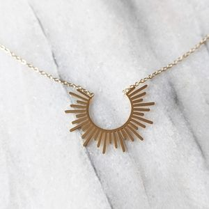 NWT Lovoda Ray of Sunshine 14k Gold Plate Necklace